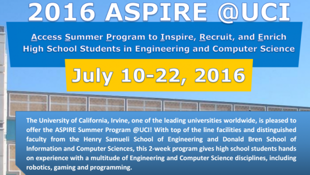 2016 Aspire Summer Program Hosted By Uc Irvine